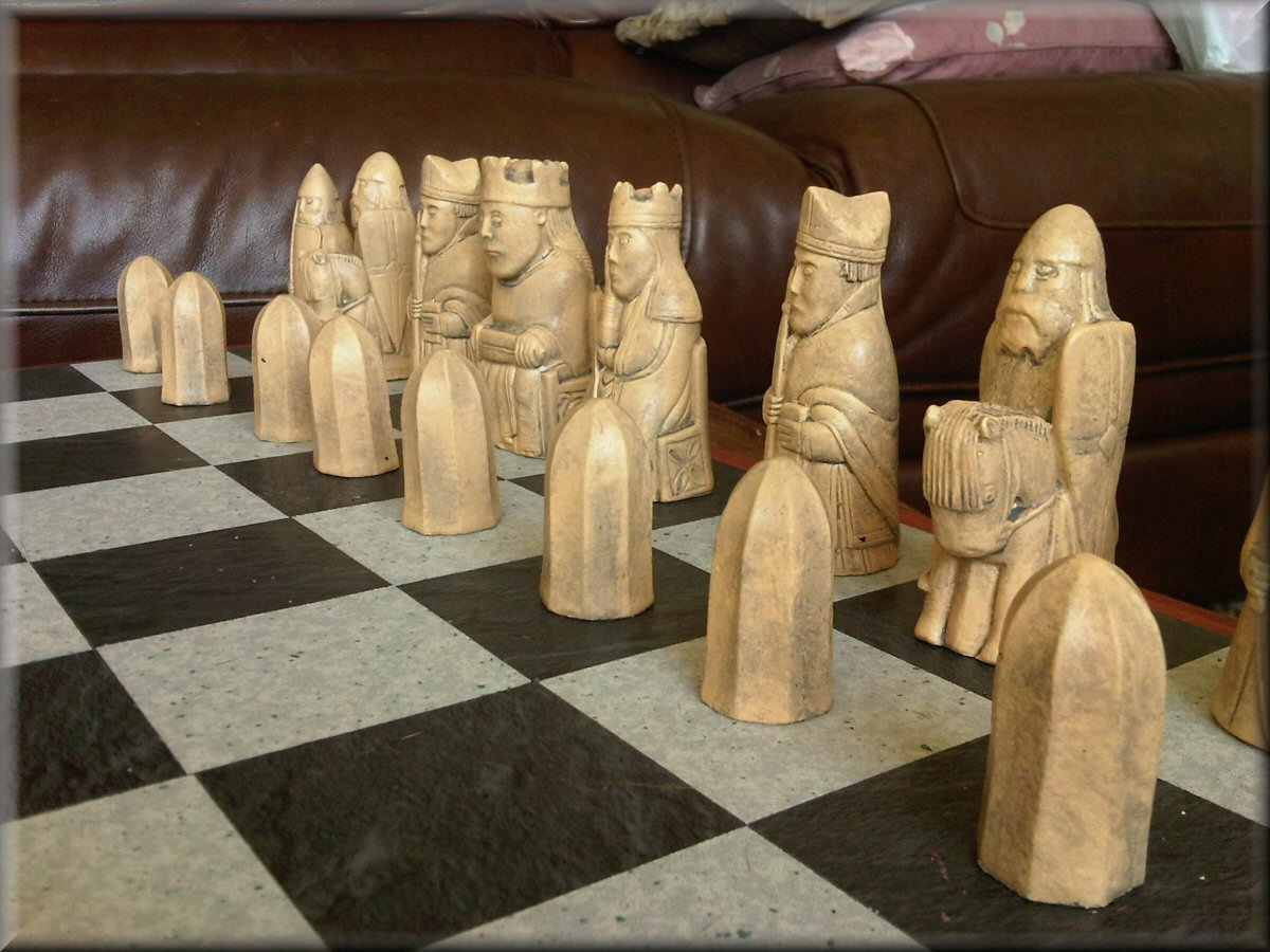 Authentic british museum replica isle of lewis chess set with two extra queens ebay - Lewis chessmen set ...